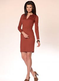 Бизнес рокля с дълъг ръкав
