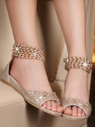 Летни сандали на равна подметка