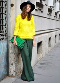 Съчетание на цветове в облеклото - зелен