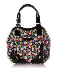 Лакирана чанта с цветя