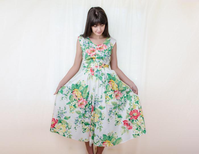 Простое летнее платье из штапеля сшить 89