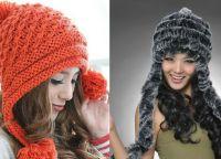 Модная женская шапка связанная своими руками 6