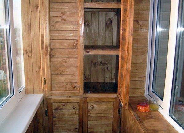 Как сделать шкафчик для балкона 766